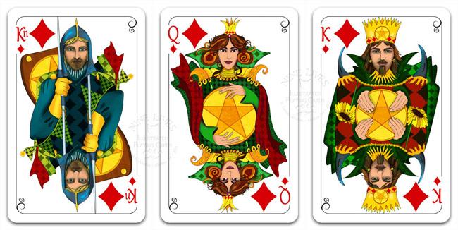 Royal Diamonds - Nine Lives Playing Cards