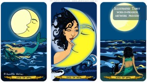 Tarot: Card size and versions of The Moon