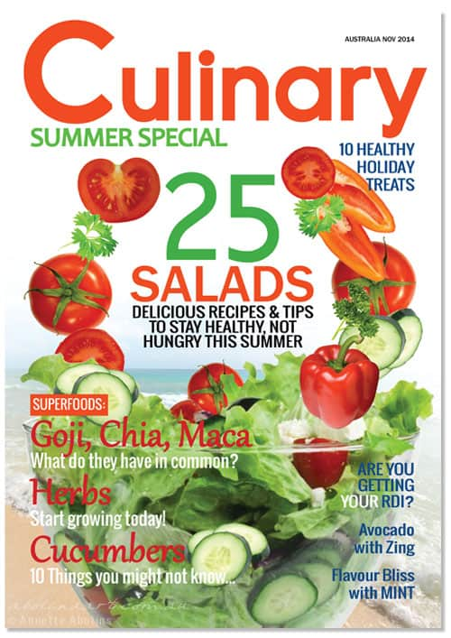 Culinary magazine mock-up Annette Abolins