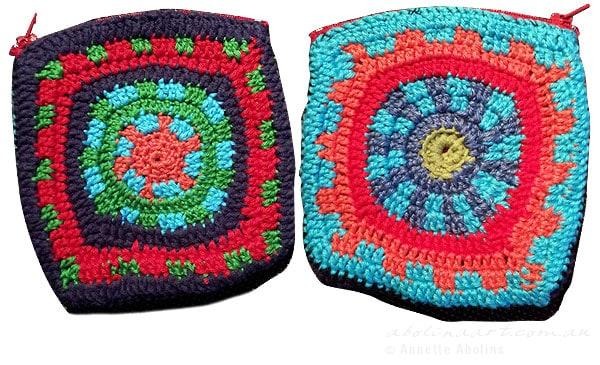 Crocheted wallets