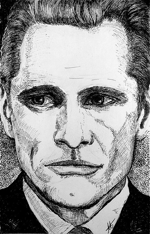 Pen and ink drawing Viggo