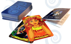 Nine Lives Tarot deck and mini card guide