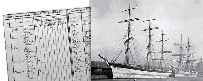 Queen of England ship and passenger log
