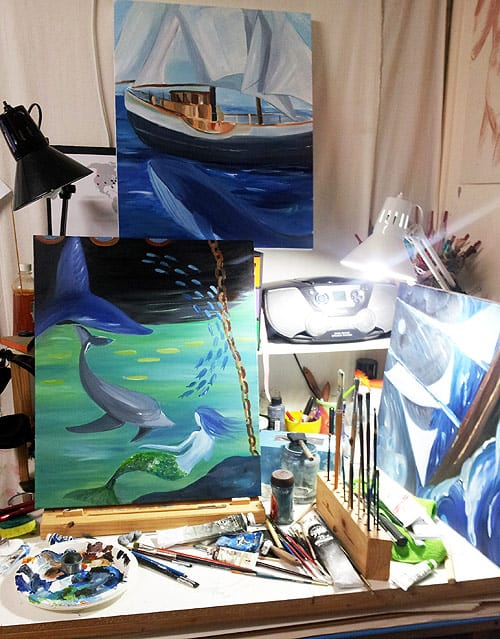 Painting in the Studio