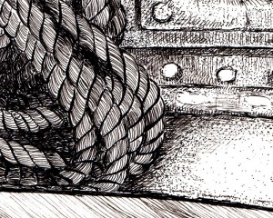 Detail pen & ink drawing Annette Abolins