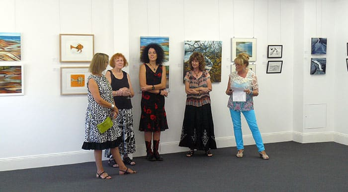 Gallery owner Jo Chisholm-Ray opens the exhibition