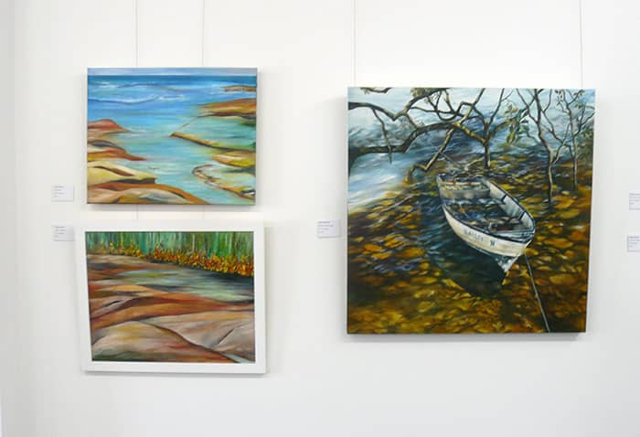 Paintings by Signe Eklund and Helen Mortimer