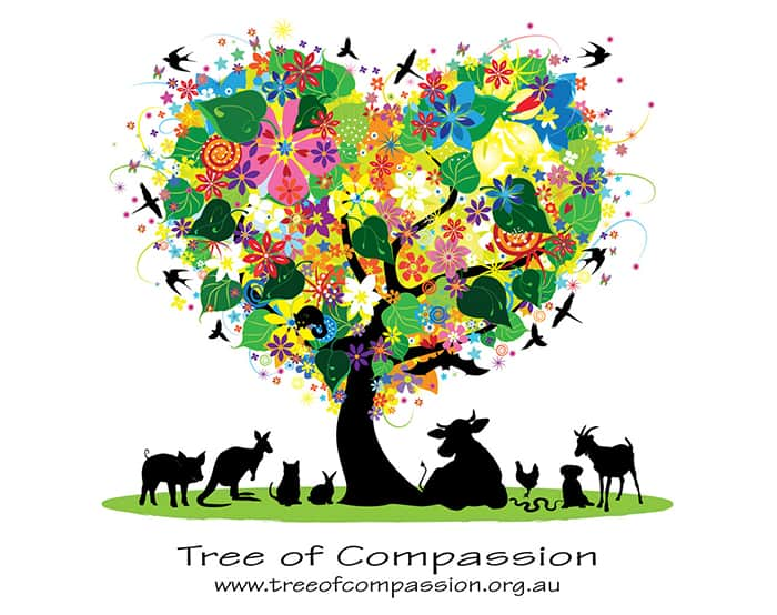 Tree of Compassion logo  - full version with name and tagline