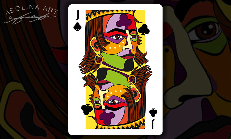Preview: in colour Jack of Clubs