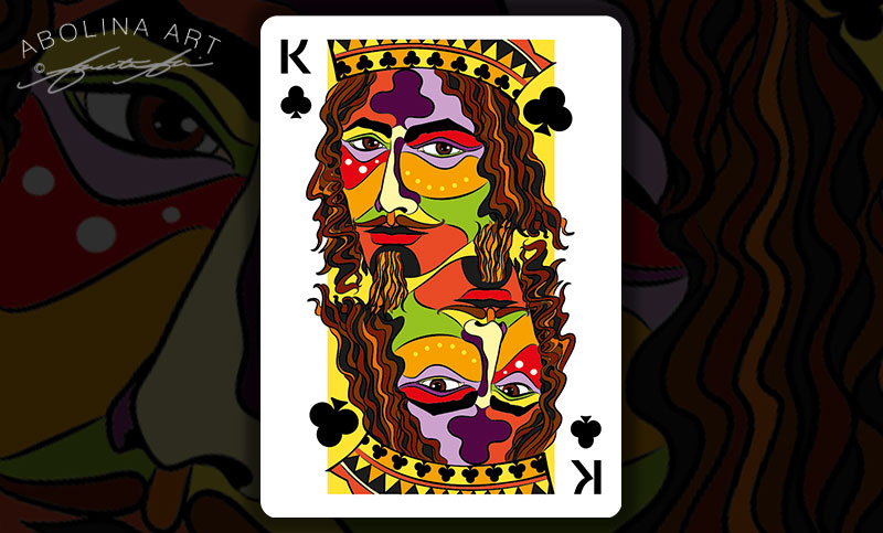Preview: in colour Queen of Clubs