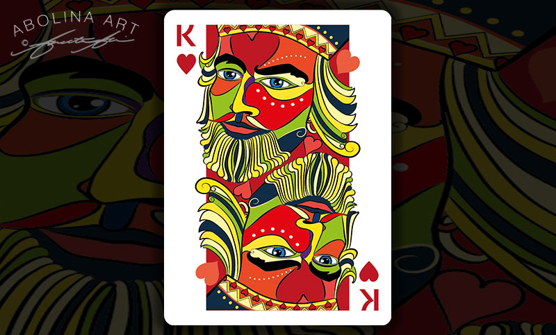 Preview: in colour King of Hearts