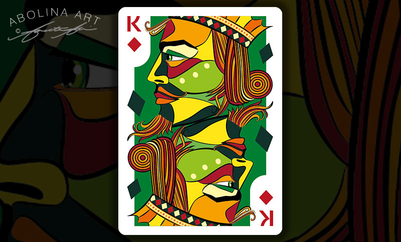 King of Diamonds version 3 in colour