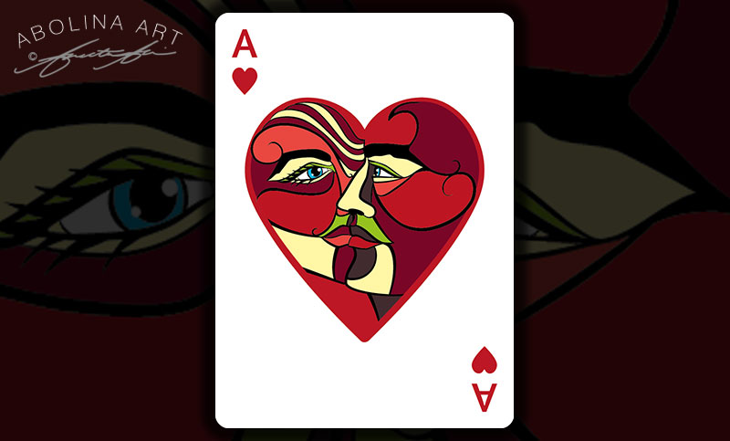 Ace of Hearts - the lovers