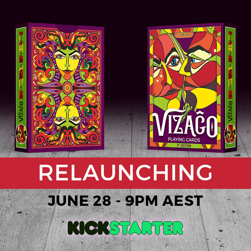 VIZAĜO playing cards - relaunch 28 June