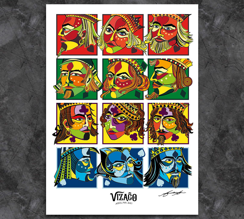 Royal VIZAĜO Art Print by Abolina Art