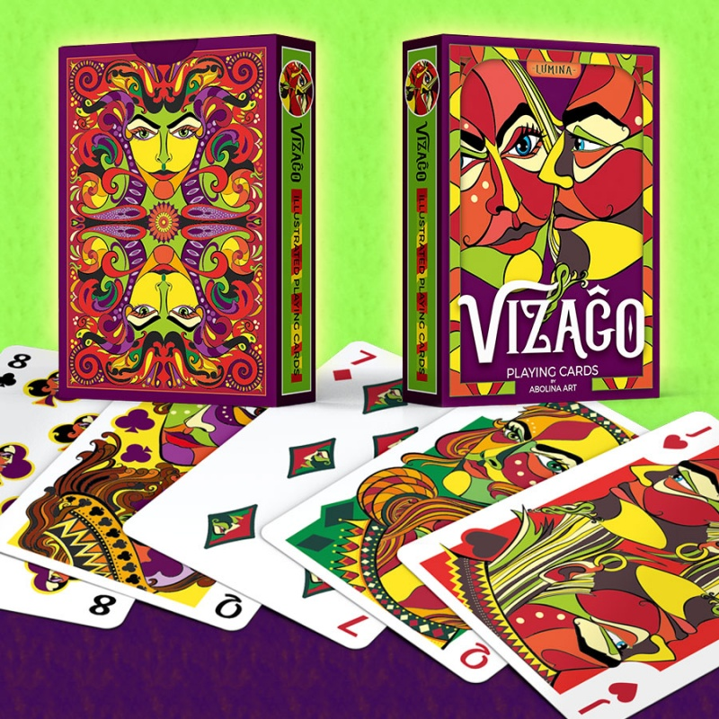 VIZAĜO Playing Cards by Abolina Art