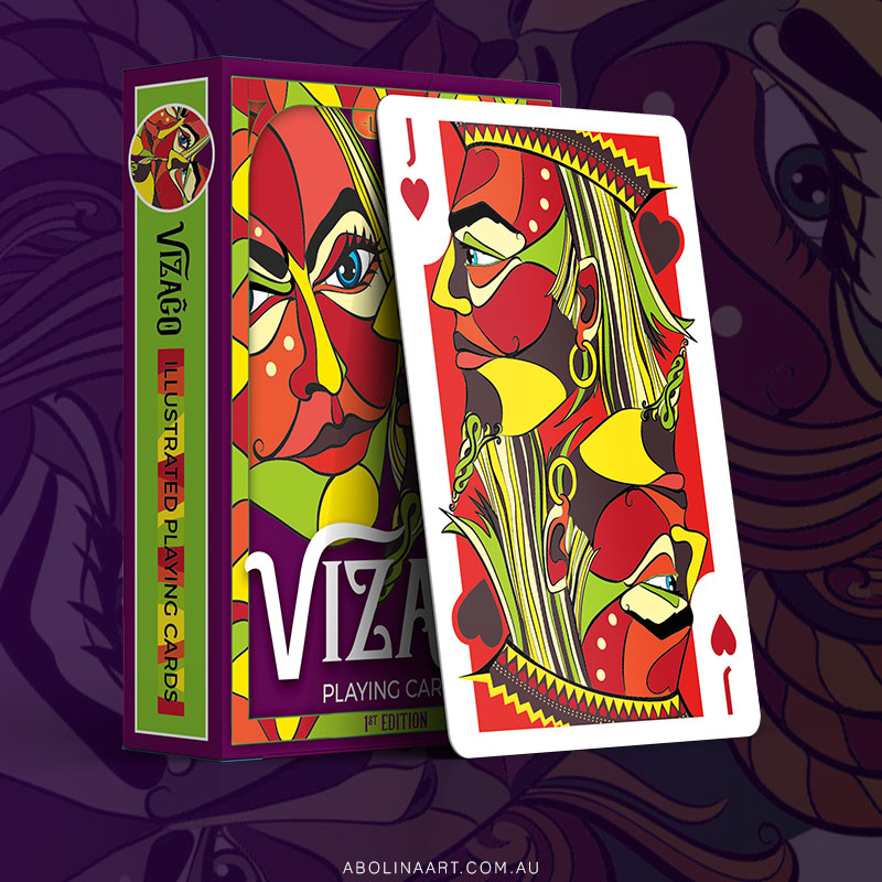 Playing card design by Abolina Art