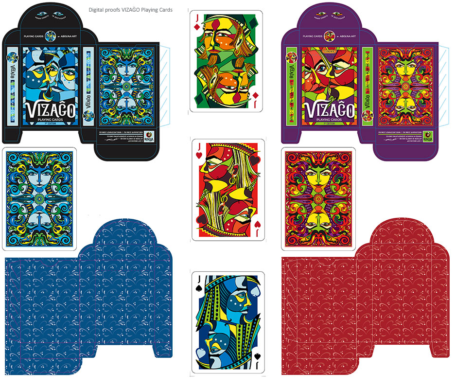 Digital print proofs of VIZAĜO Playing Cards