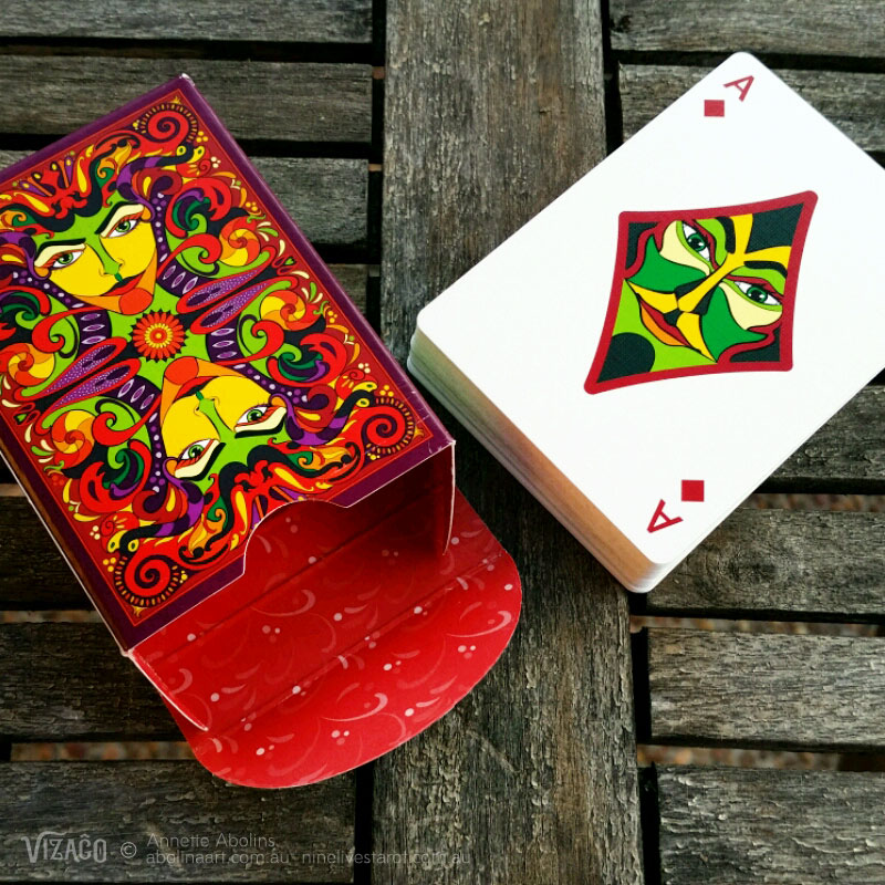 VIZAĜO Playing Cards by Annette Abollins