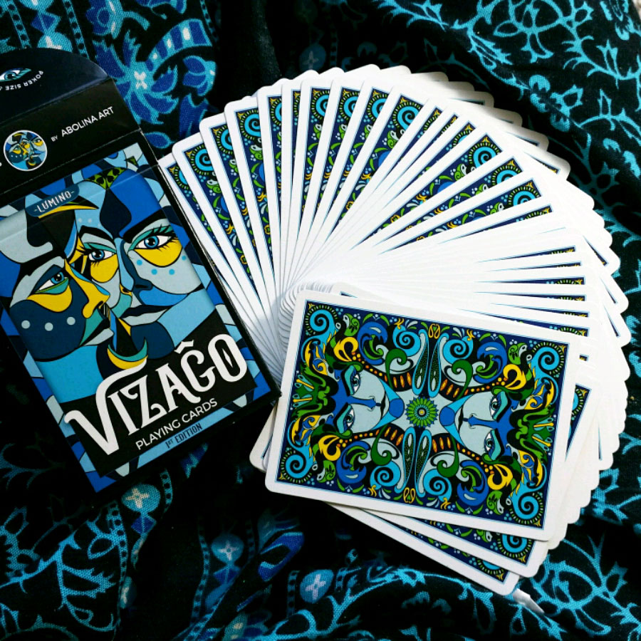 VIZAĜO Playing Cards by Annette Abolins