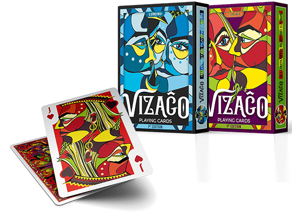 Tuck box and cards from VIZAGO playing cards