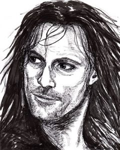 Weekend Drawings – Viggo and Tutankhamun
