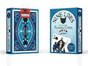 Front of tuck box - limited edition playing cards designed by Annette Abolins