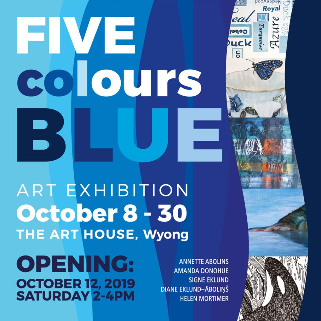 Five Colours Blue exhibition Invite 12 Oct 2019