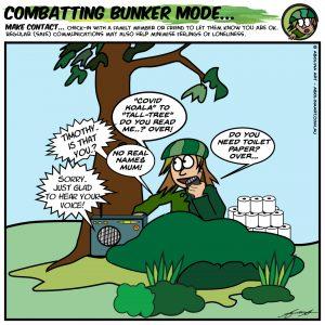 COVID-19 Cartoons: Combatting Bunkermode & Balancing Escapism