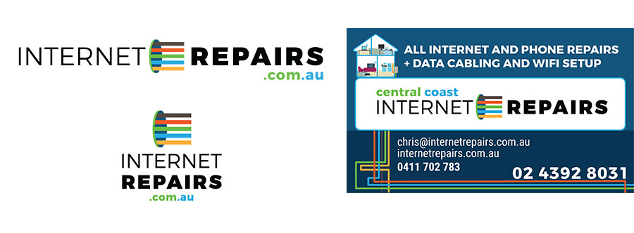 Central Coast Internet Repairs logo design