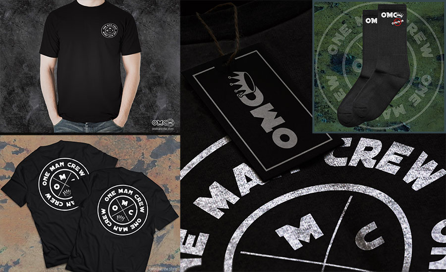 promo mockups for OMC merchandise