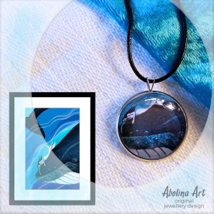 Whale Dreaming artwork and pendant