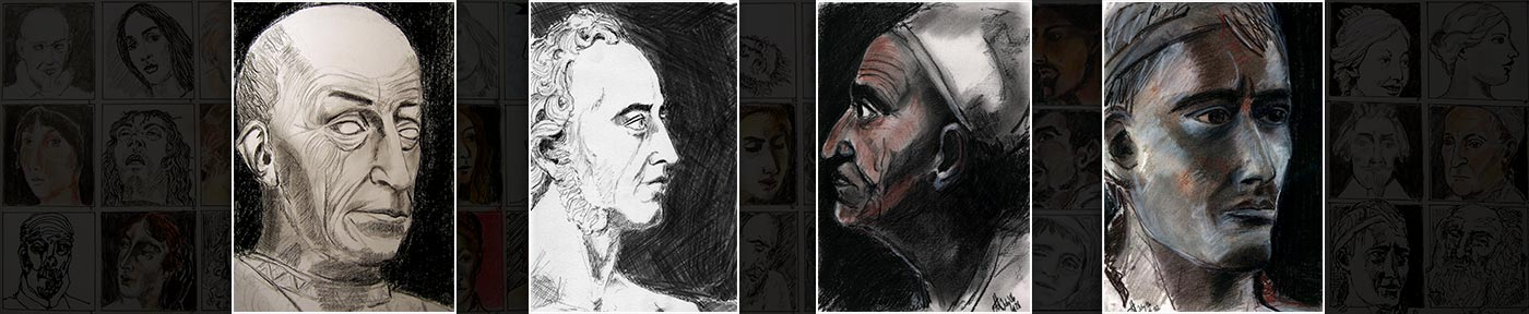 portrait drawings after the masters